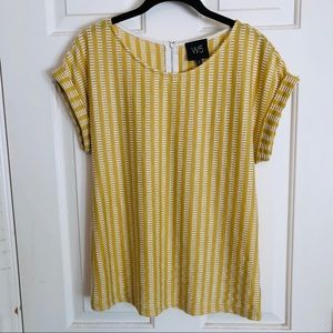 Ladies woven knit top